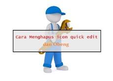 Cara Mudah Menghilangkan Icon Quick Edit dan Obeng di Blogger
