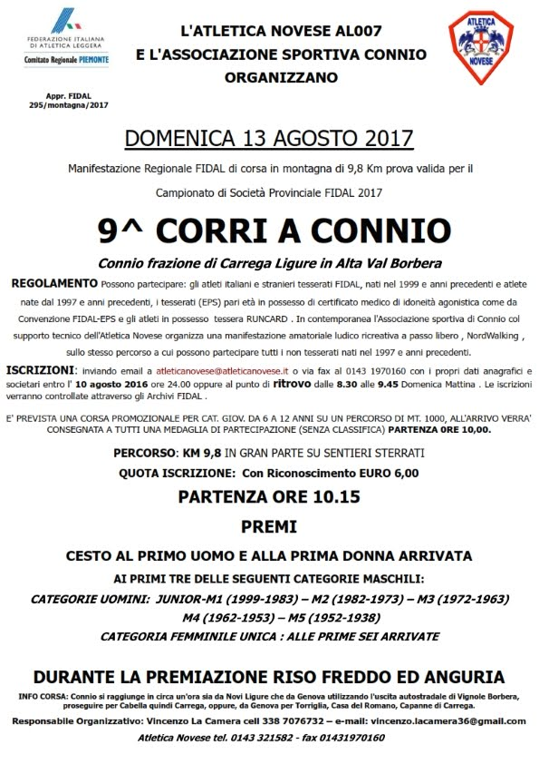Connio di Carrega Ligure 13 agosto