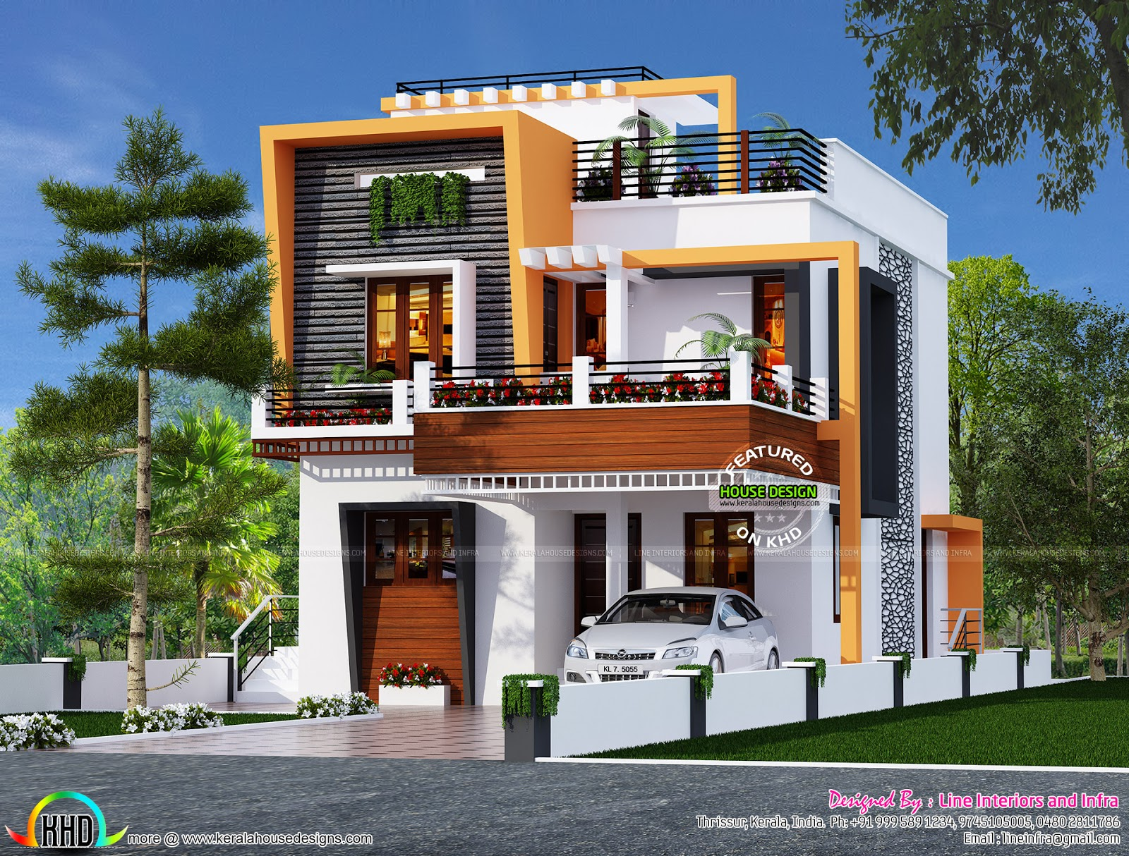3 bedroom cute contemporary home - Kerala home design and ...