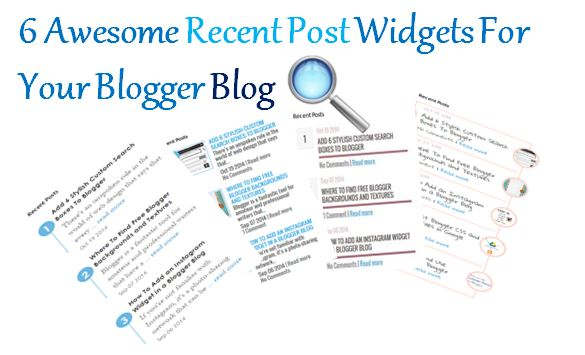 Recent post widgets for blogger, recent post for blogger