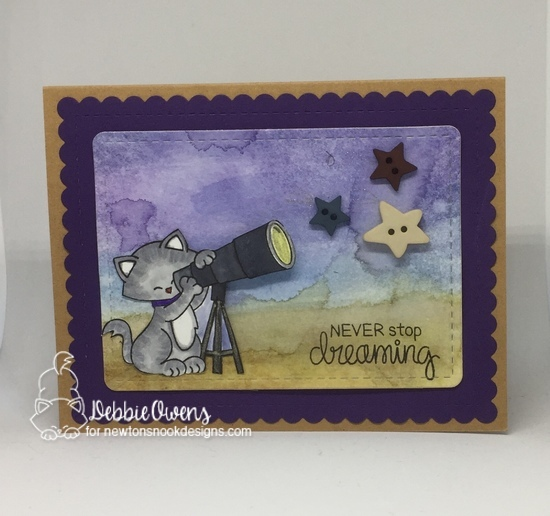 Never stop dreaming by Debbie features Cosmic Newton and Frames & Flags by Newton's Nook Designs; #newtonsnook