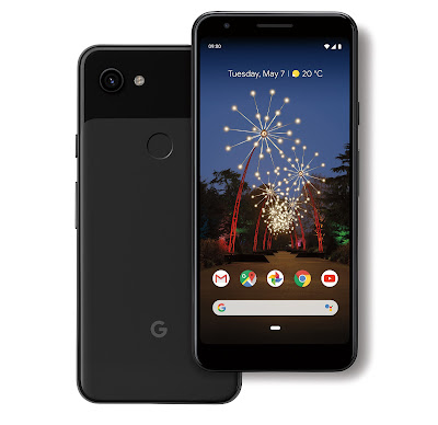 Image showing the back and front of the Pixel 3a device