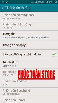 Tiếng Việt Samsung N910P alt