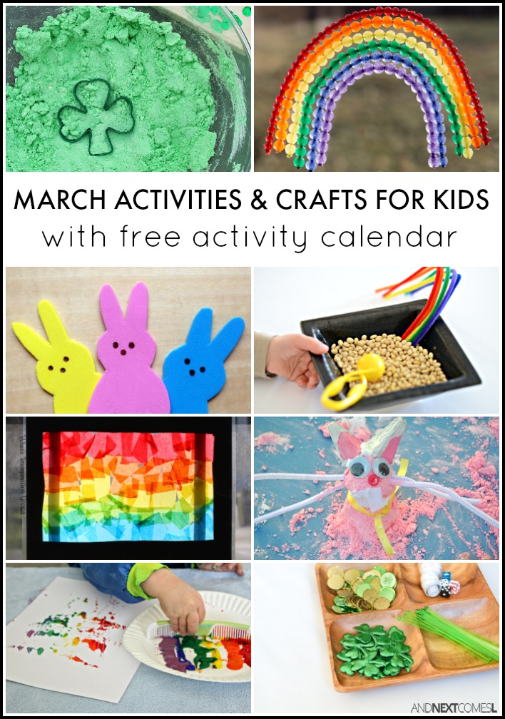 Calendar Ideas For March : March activities for kids free activity calendar