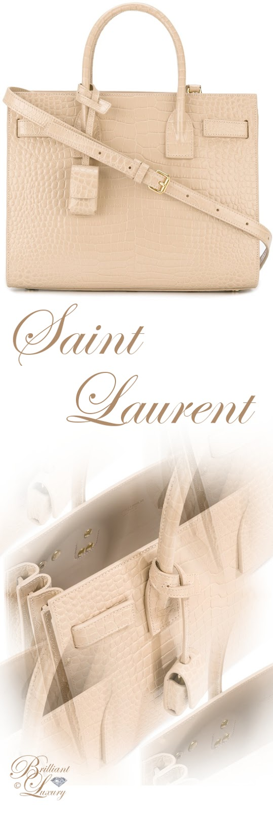 Brilliant Luxury ♦ Saint Laurent Baby Sac de Jour Tote