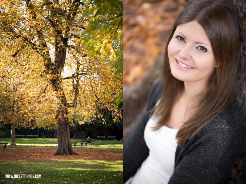 Herbstshooting im Park Portraitshooting Herbst
