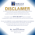 Babcock University Security Disclaimer Notice to Parents & Guardians