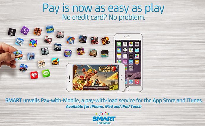 Smart Pay With Mobile, Buy Songs from iTunes with Smart Prepaid and Postpaid, Buy Apps for Apple with Smart Prepaid and Postpaid