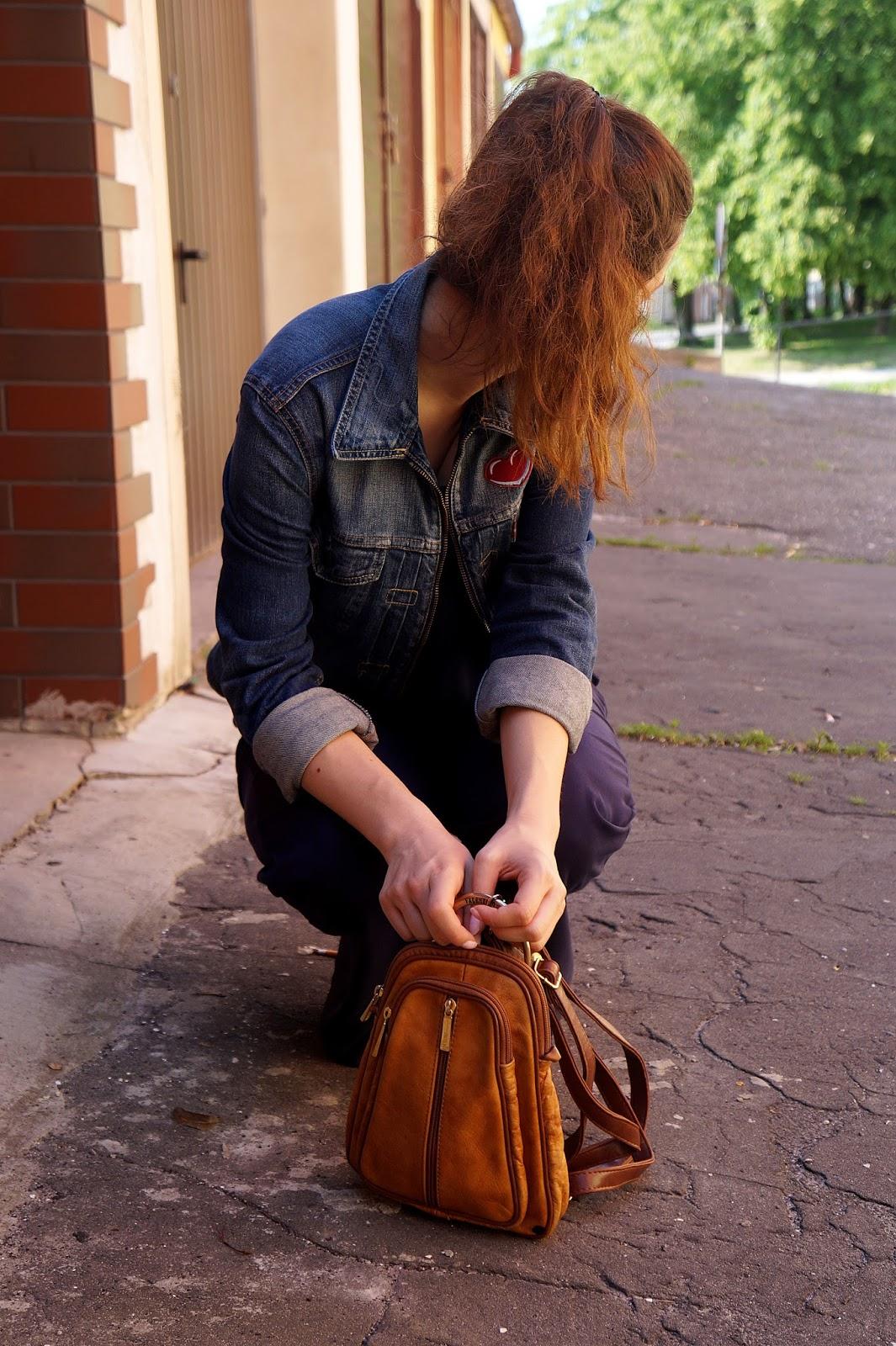 plecak valenino brązowy