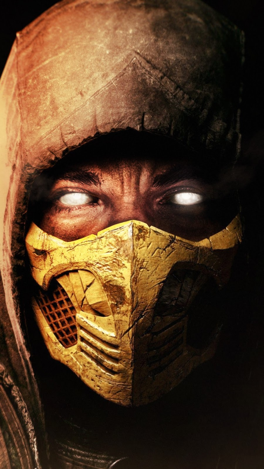 Papel de parede grátis Scorpion Mortal Kombat X para PC, Notebook, iPhone, Android e Tablet.