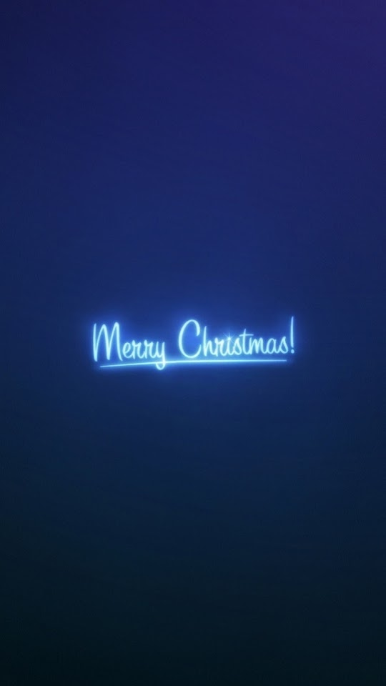 Merry Christmas Blue Light  Galaxy Note HD Wallpaper