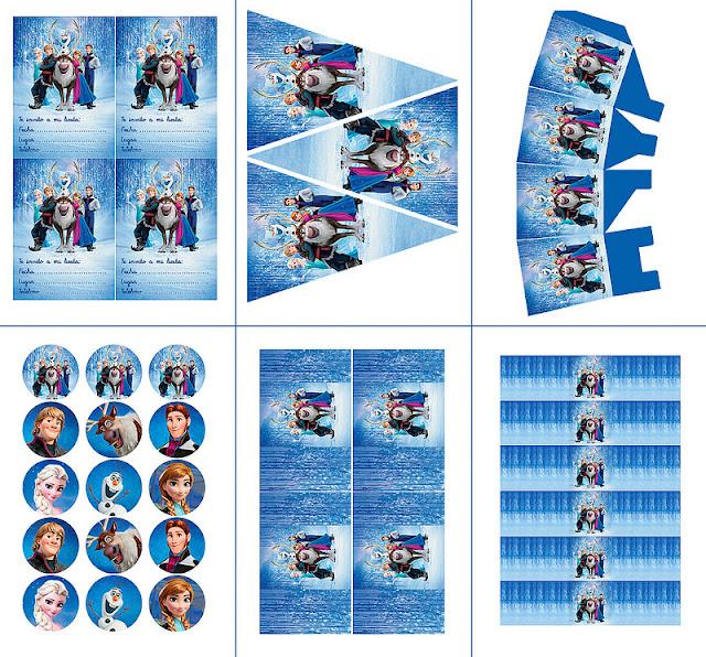 Frozen Birthday Party Free Printable Party Mini Kit Oh My Fiesta