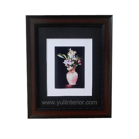 11x14 Pink Vase Wall Frame, Brown,Nigeria