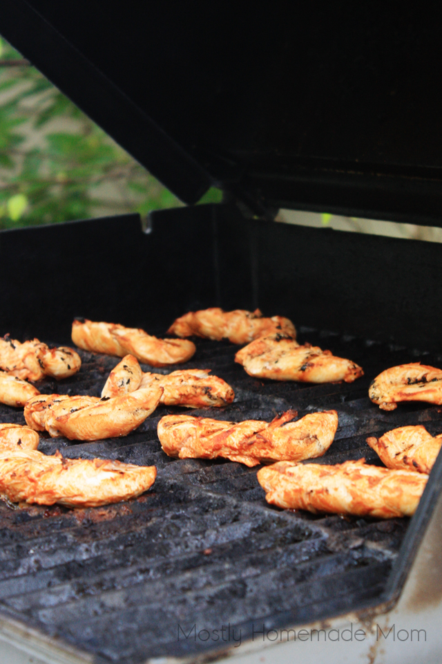 Grilled Marinated Buffalo Chicken Calzones