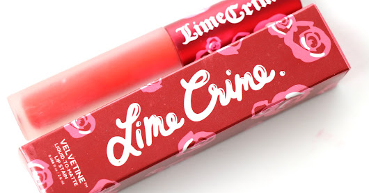 Lime Crime Velvetine Red Velvet Liquid Lipstick Review