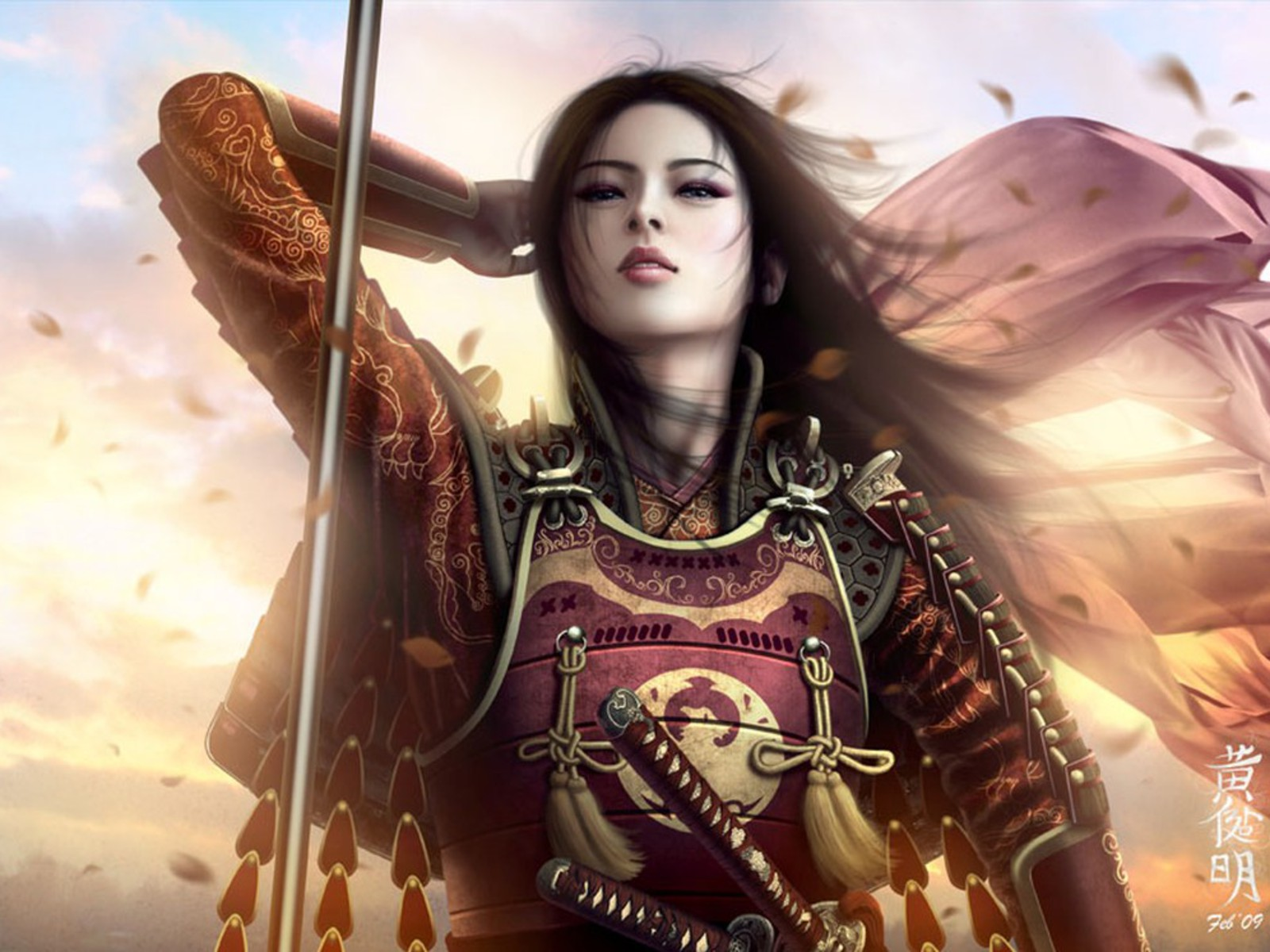 Girls and angels fantasy girls set 18 - Anime female warrior ...