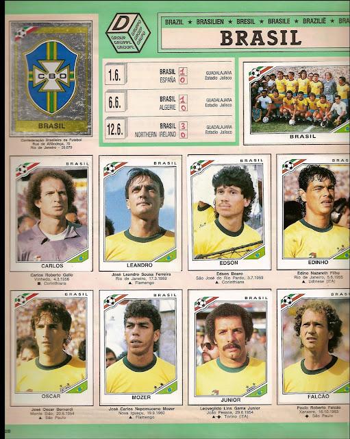 f 250 tbol de siempre y de hoy mundial 1986 brasil cromos