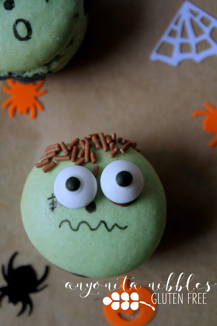 Spooky Frankenstein Halloween Macarons| Anyonita Nibbles
