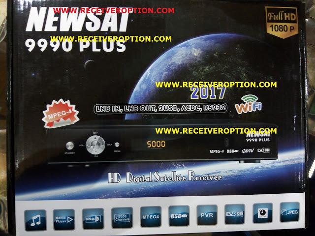 NEWSAT 9990 PLUS HD RECEIVER AUTO ROLL POWERVU KEY NEW SOFTWARE