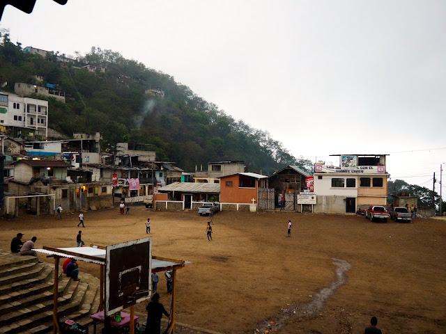 Town square of San Jorge la Laguna, by Lake Atitlan, Guatemala
