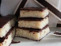 turrón de coco y chocolate casero