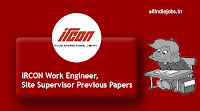 IRCON Work Engineer Previous Papers
