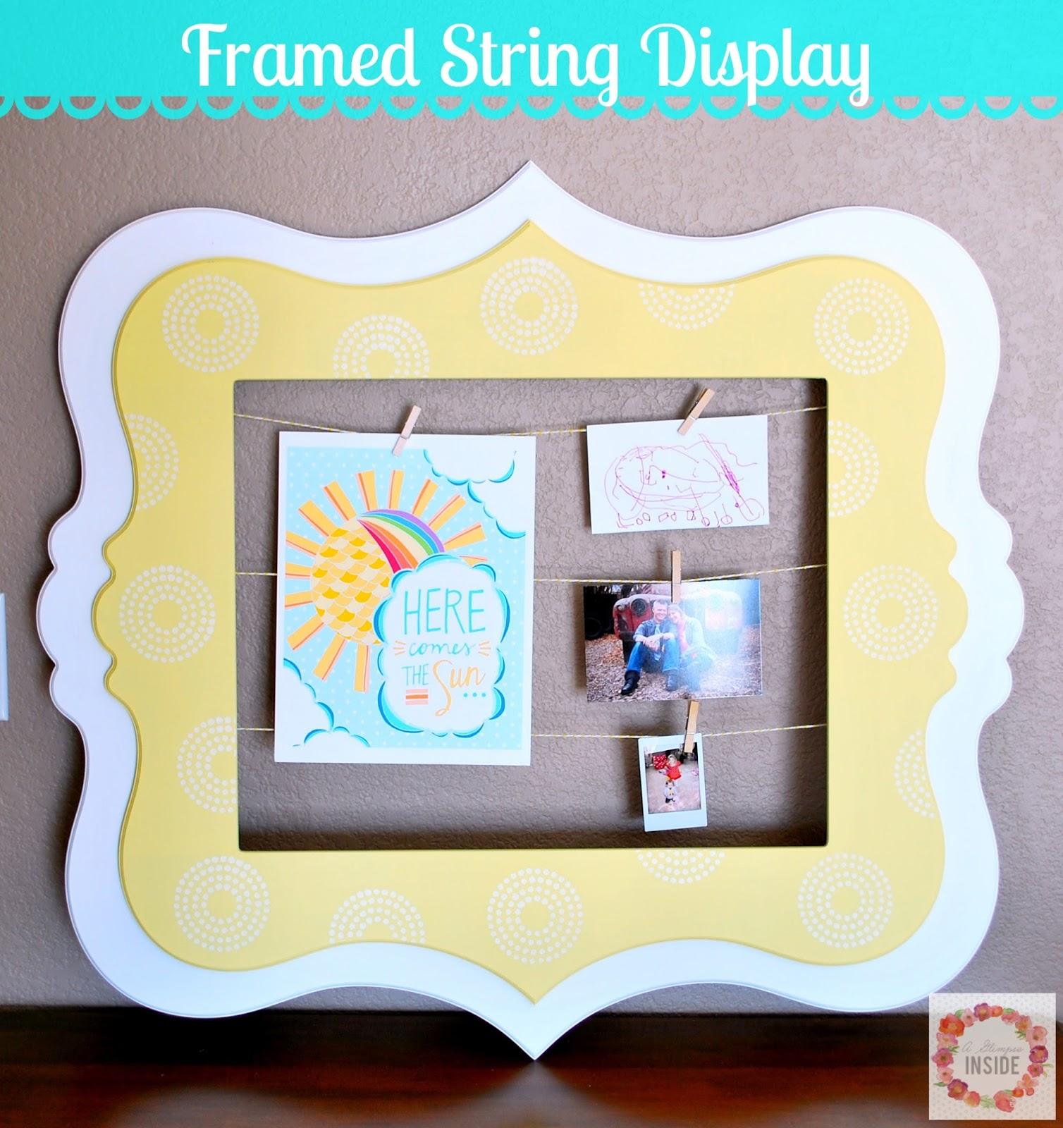 Framed String Display   A Glimpse Inside