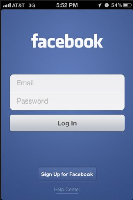 facebook login mobile iphone