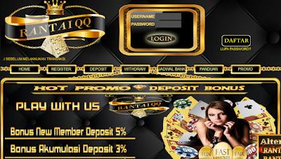 Rantaiqq Situs Agen Bandarq Dan Judi Domino Online Terpercaya Indonesia