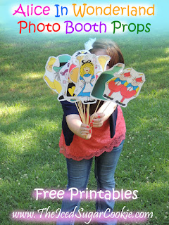 Free Alice In Wonderland Photo Booth Props The Iced Sugar Cookie - Free Printable Template Pattern Cutout