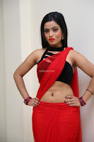 Aasma Syed in Red Saree Sleeveless Black Choli Spicy Pics ~  Exclusive Celebrities Galleries 028.jpg