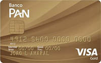 Cartão PAN Gold Visa