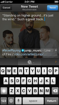 Twitter #music for iOS