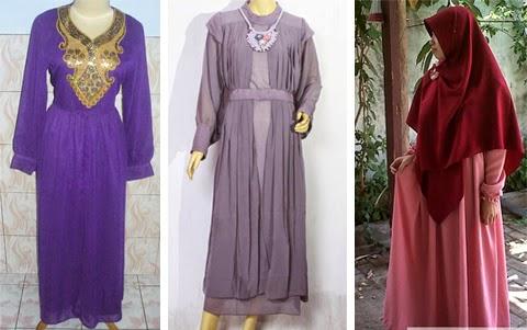 12 Gambar Model Baju Gamis Cantik Untuk Orang Gemuk