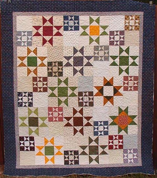 Random Ohio Stars Quilt Free Pattern