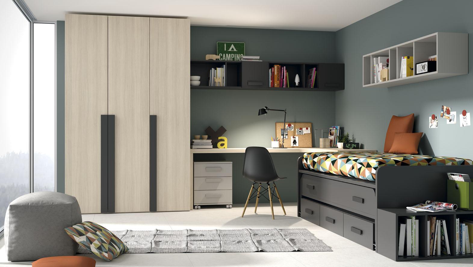 Mueble juvenil y habitaciones infantiles - Cortinas habitacion juvenil ...