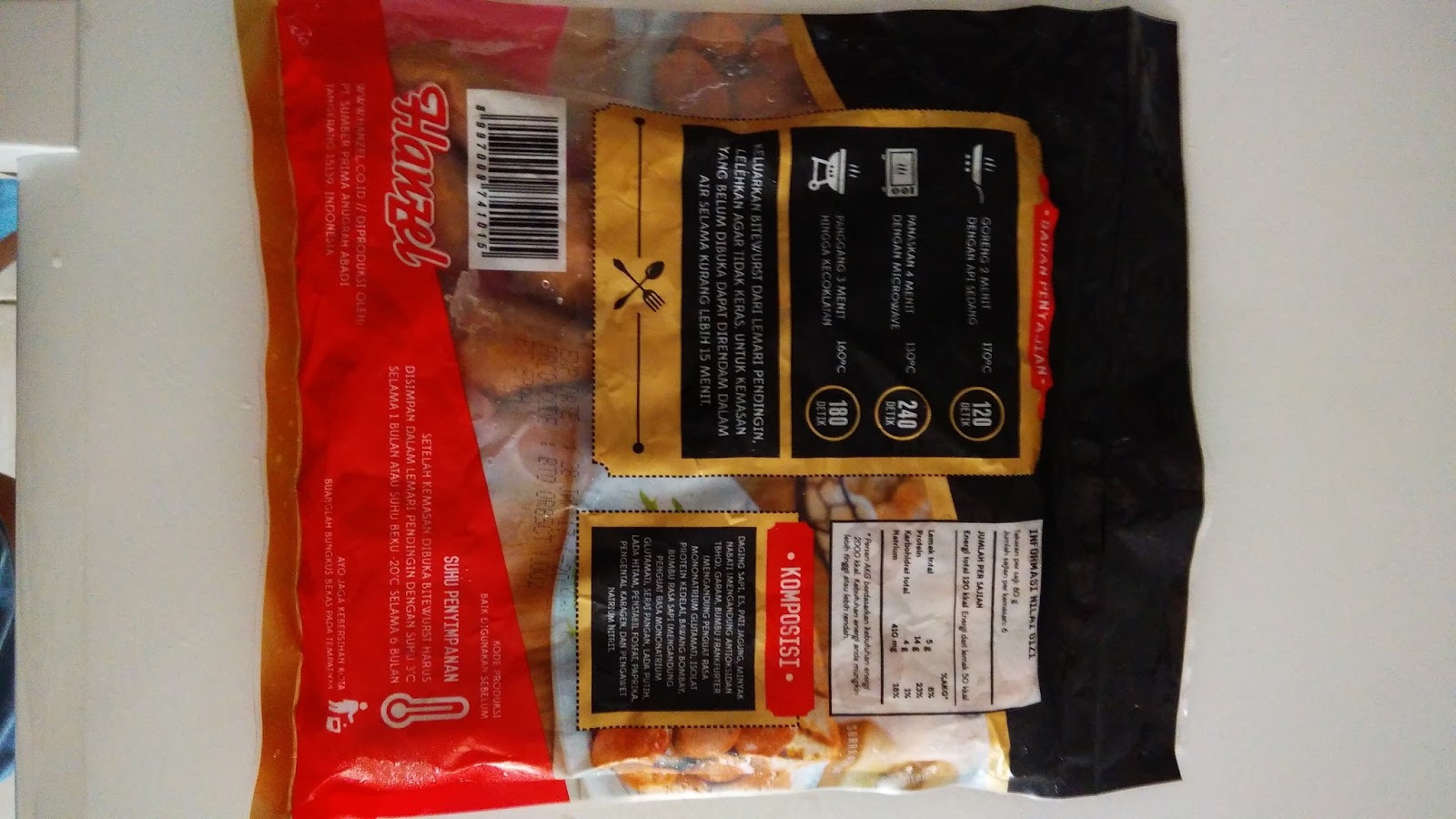 Distributor Frozen Food Fiesta Nugget Stickie Sosis 500gr Bungkus Tampak Belakang