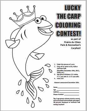 Thanksgiving Coloring Contest Flyer Coloring Pages