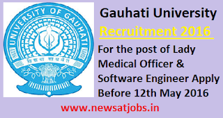 gauhati+university+recruitment+2016