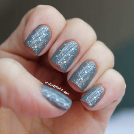 OPI I Have a Herring Problem Stamping Nail Art