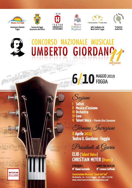 """Concorso nazionale musicale """"Umberto Giordano"""". I nomi dei finalisti del Talent Voice"""