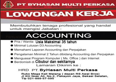 Contoh Iklan Lowongan Kerja Accounting