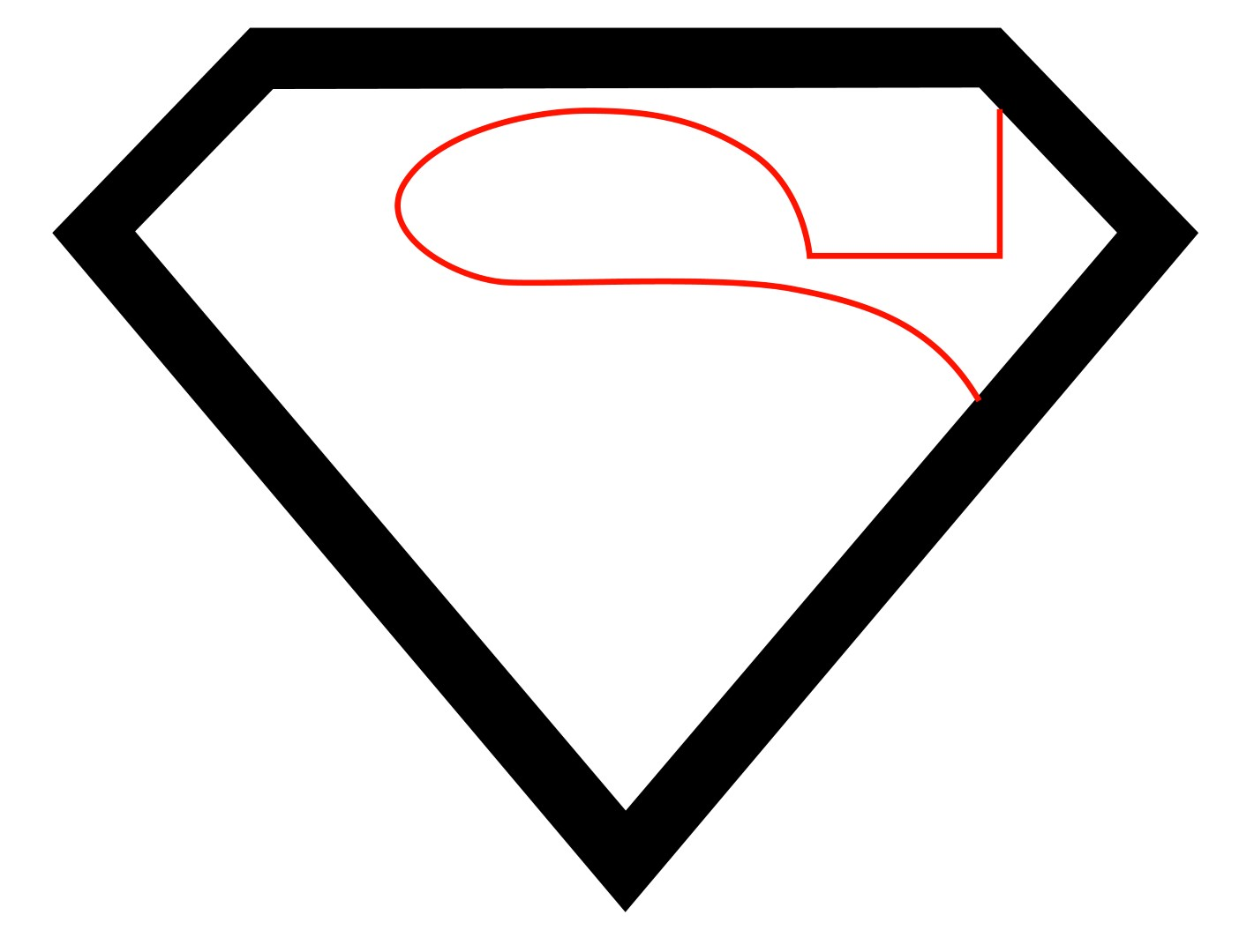 How To Draw The Superman Logo - Draw Central
