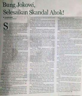 Amien Rais : Bung Jokowi, Selesaikan Skandal Ahok!