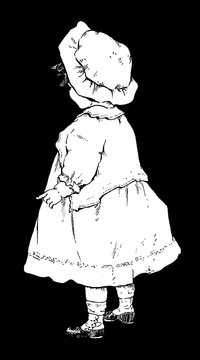 Digital Stamp Design: Vintage Girl Drawing Illustration
