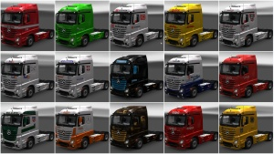 15 skins pack for Mercedes MPIV