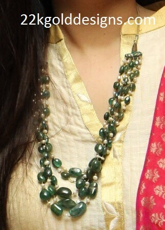 Layered Green Beads Chain