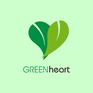 Green Heart Logo Free Download Vector CDR, AI, EPS and PNG Formats
