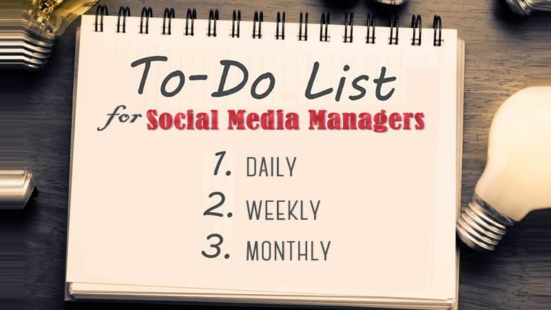 To-Do Social Media Checklist For Social Media Managers