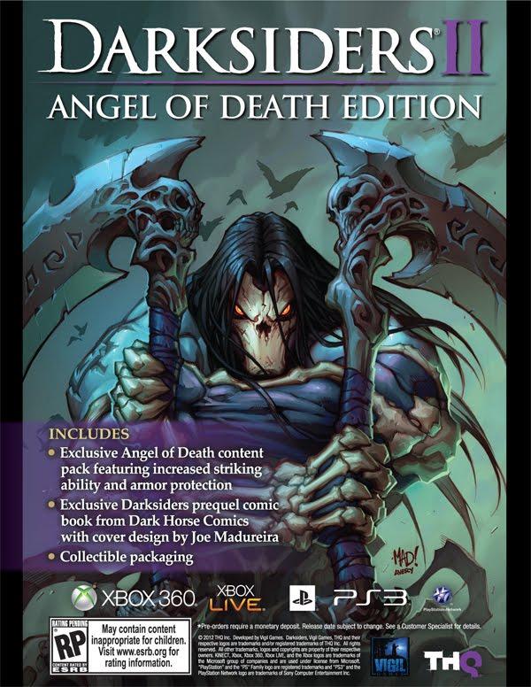 darksiders ii can get an exclusive darksiders prequel comic from dark